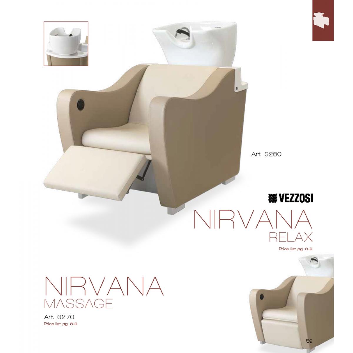 Λουτήρας Κομμωτηρίου Nirvana Relax Vezzosi