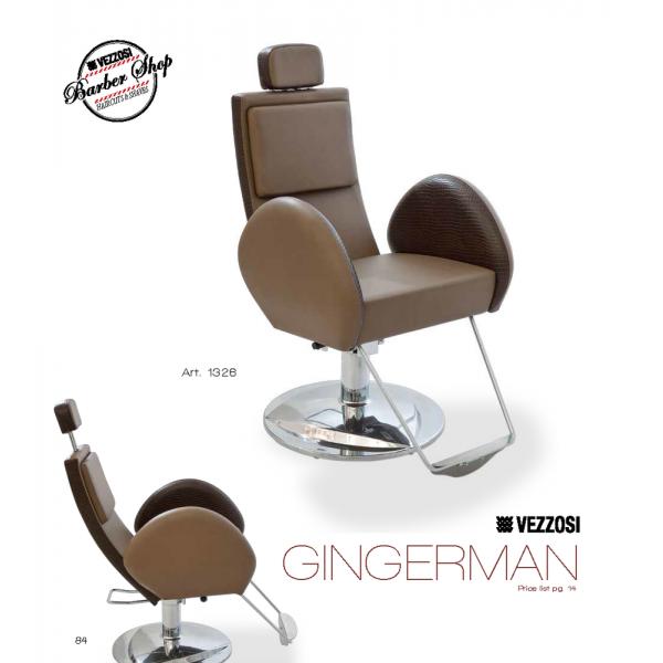 Καρέκλα Κουρείου Gingerman Vezzosi