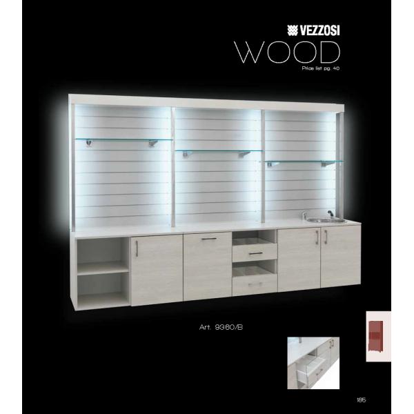 Ντουλάπι Κομμωτηρίου Wood Vezzosi